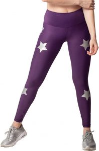 Image of the Activefit Silver Stars Black Leggings