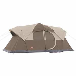 Image of the Coleman 10-Person Dark Room Cabin Large Family Camping Tent