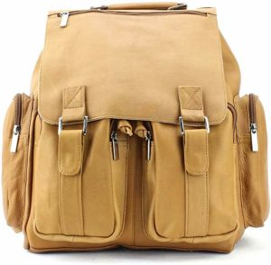 Image of the Iris Tyler JACKSON Leather Boys College Laptop Backpack