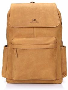 Image of the Leather Win Income Flip Laptop College Backpack for Boys
