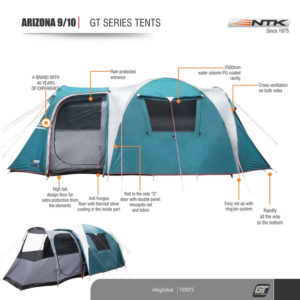 Image of the NTK Arizona GT 9-10-Person Sport Large Family Camping Tent