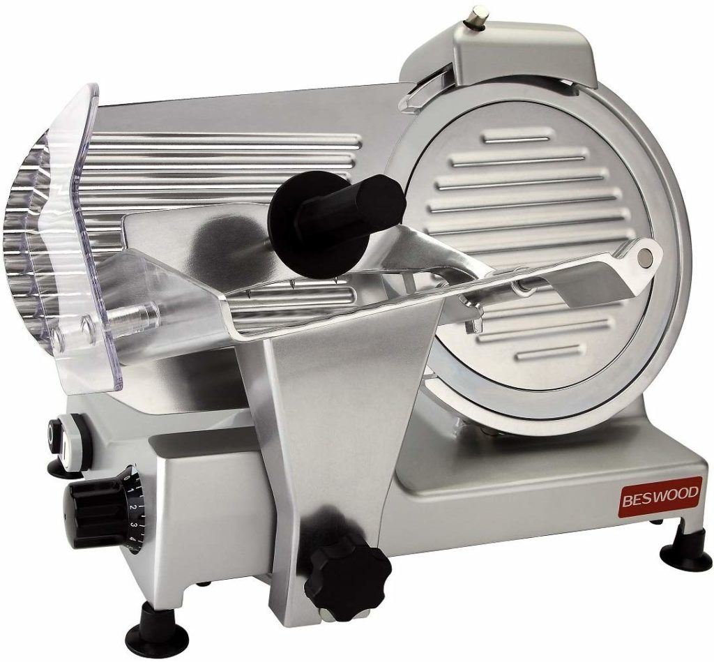 Image of BESWOOD Premium Chromium-plated Home Meat Slicer