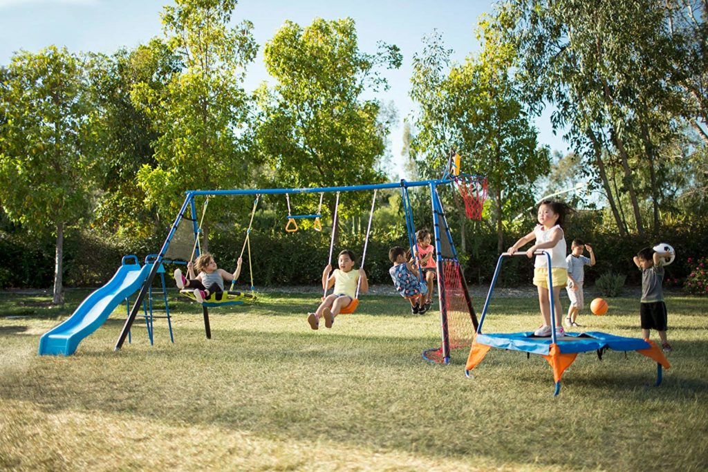 Image of Fitness Reality Kids 'The Ultimate' Metal Swing Set
