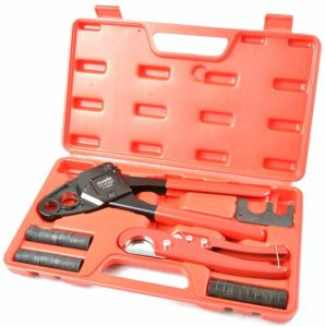 Image of IWISS Combo Angle Head PEX Pipe Crimping Tool Kits