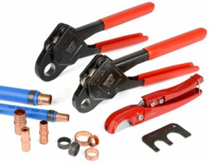Photo of IWISS PEX Pipe Crimping Tool Kits with PEX Pipe Cutters suits
