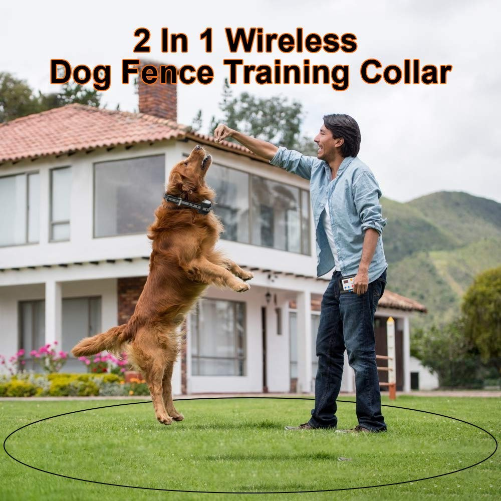 KAROTEZH 2 in 1 Electric Dog Fence Training Collar in 2020