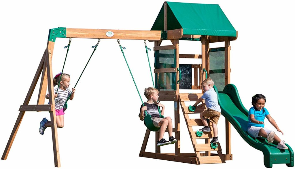 Photo of The Backyard Discovery Buckley Hill Wooden Swing Set Under 500 Dollars