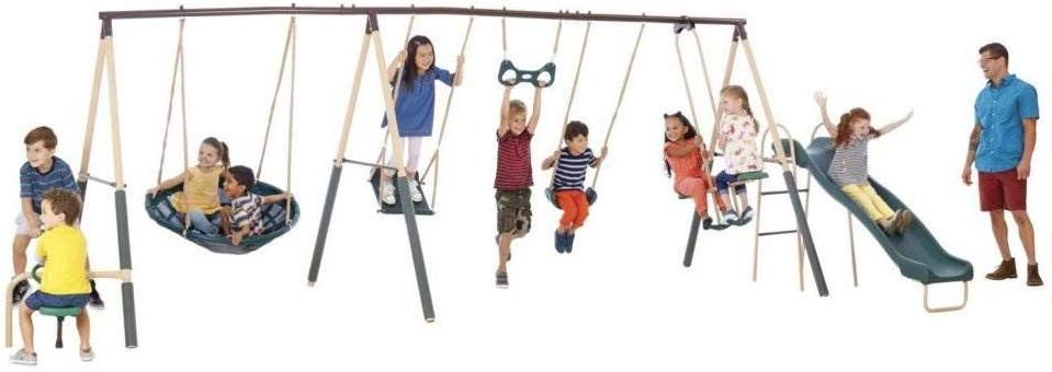 Picture of the XDP Recreation Deerfield Swing Set Under 500