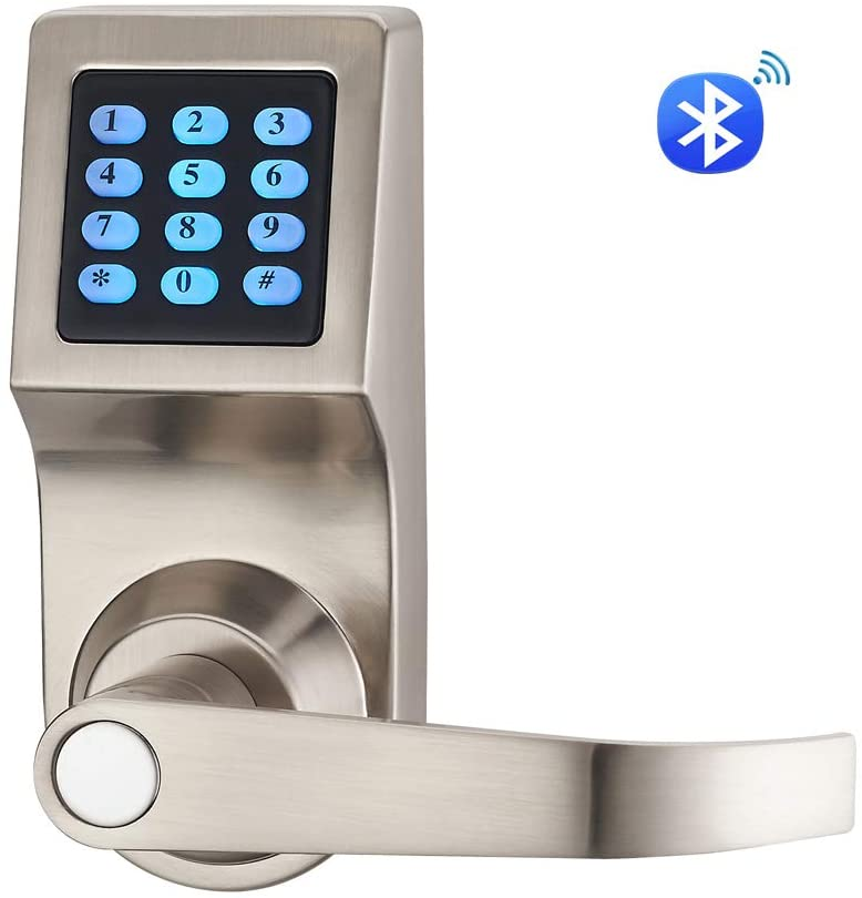 Picture of Bluetooth Digital Door Lock, Open by Card, Code, Key, and APP