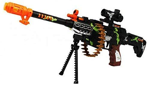 Image of CifToys Combat Military Machine Gun, LED Flashing Lights with Sound Effect