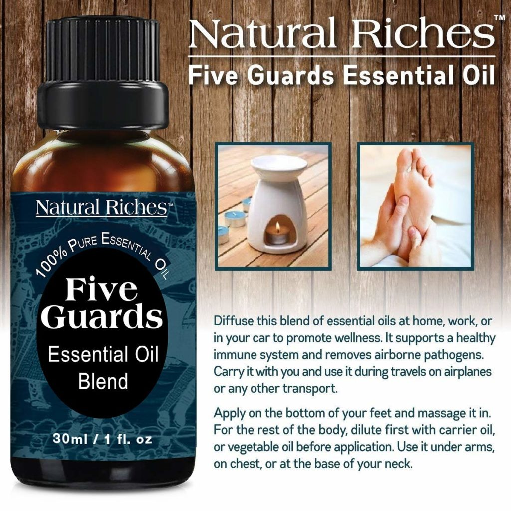 Picture of Natural Riches Five Guards Essential Oil Immunity Synergy Blend