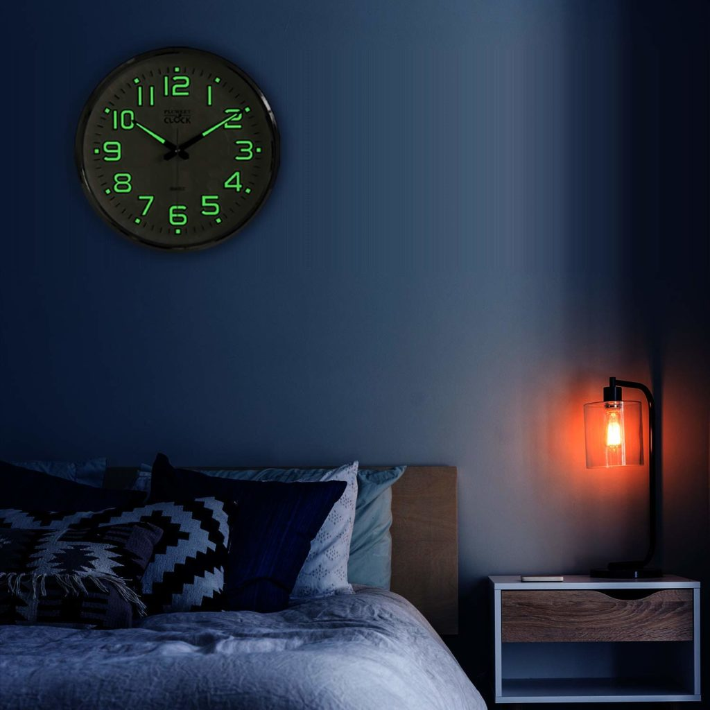 Night Light Glowing Wall Clock by Plumeet Image