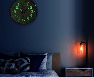 Night Light Glowing Wall Clock by Plumeet Image