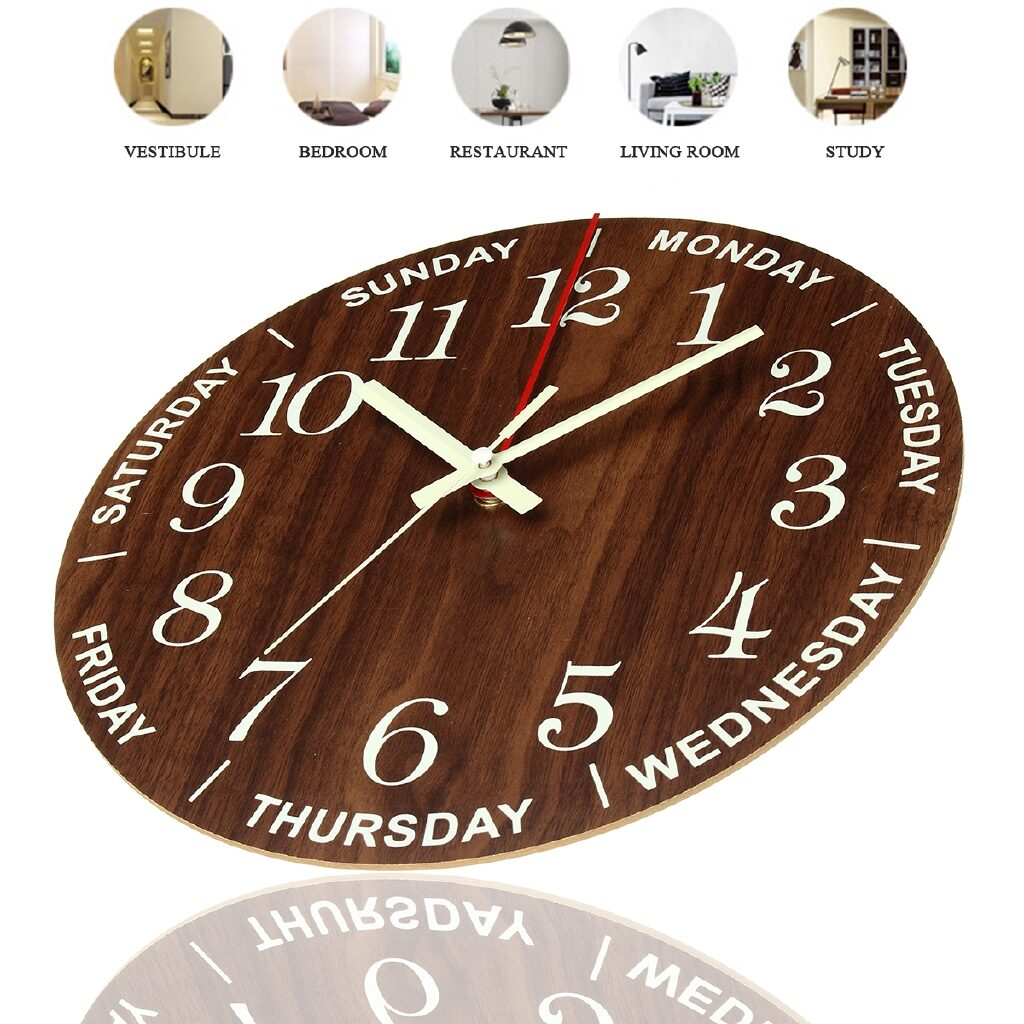 Image of Night Light Wall Clock from Bew