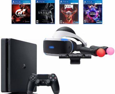 Image of PlayStation 4 Slim Bundle VR Game System