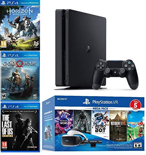 PlayStation 4 Slim PS4 1TB console and PlayStation VR Picture