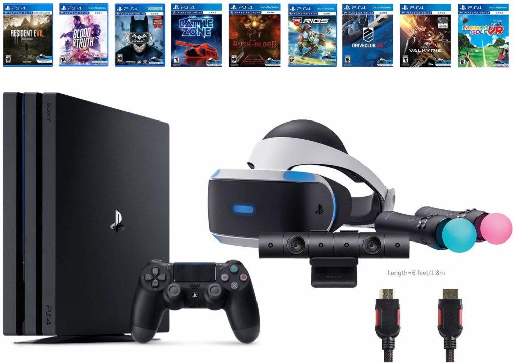 Playstation VR Deluxe Bundle with PS4 Pro Image