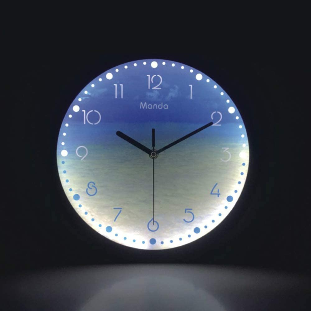 Picture of Round Glowing Wall Clock with Low Noise