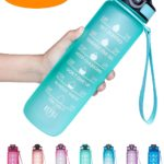 Image of Venture Pal Motivation Fitness Sports Water Bottle With Time Marker
