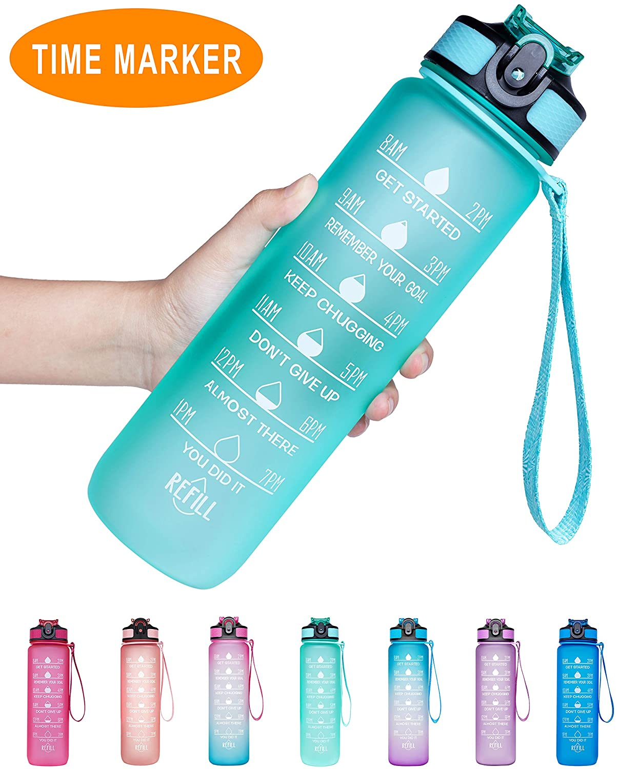 Capacity 34oz Simply Green Solutions Widemouth Tritan BPA-Free Water Bottle