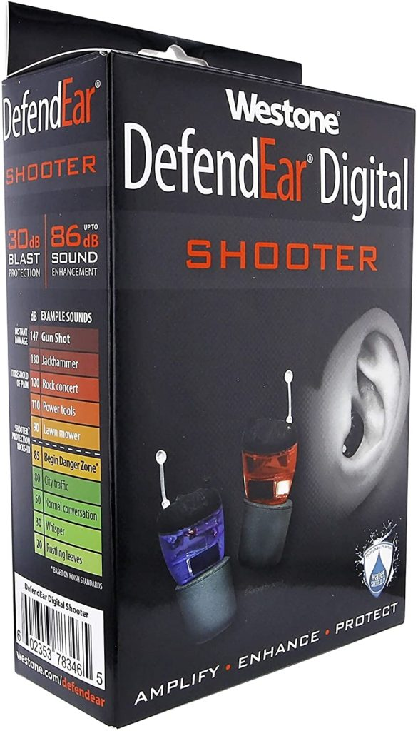 Image of the Westone DefendEar Digital Shooter Hearing Protection Ear Plugs