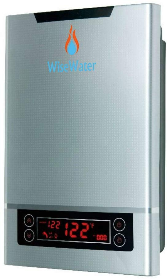 Image of WiseWater Tankless Water Heater Electric for Domestic Hot Water Heating in Kitchens, Bathrooms, Apartments, Cabins