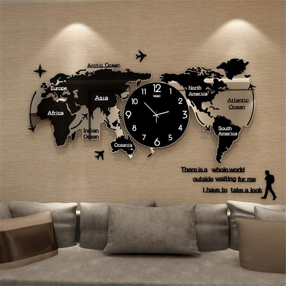 Image of World Map Glowing Clock from Framy