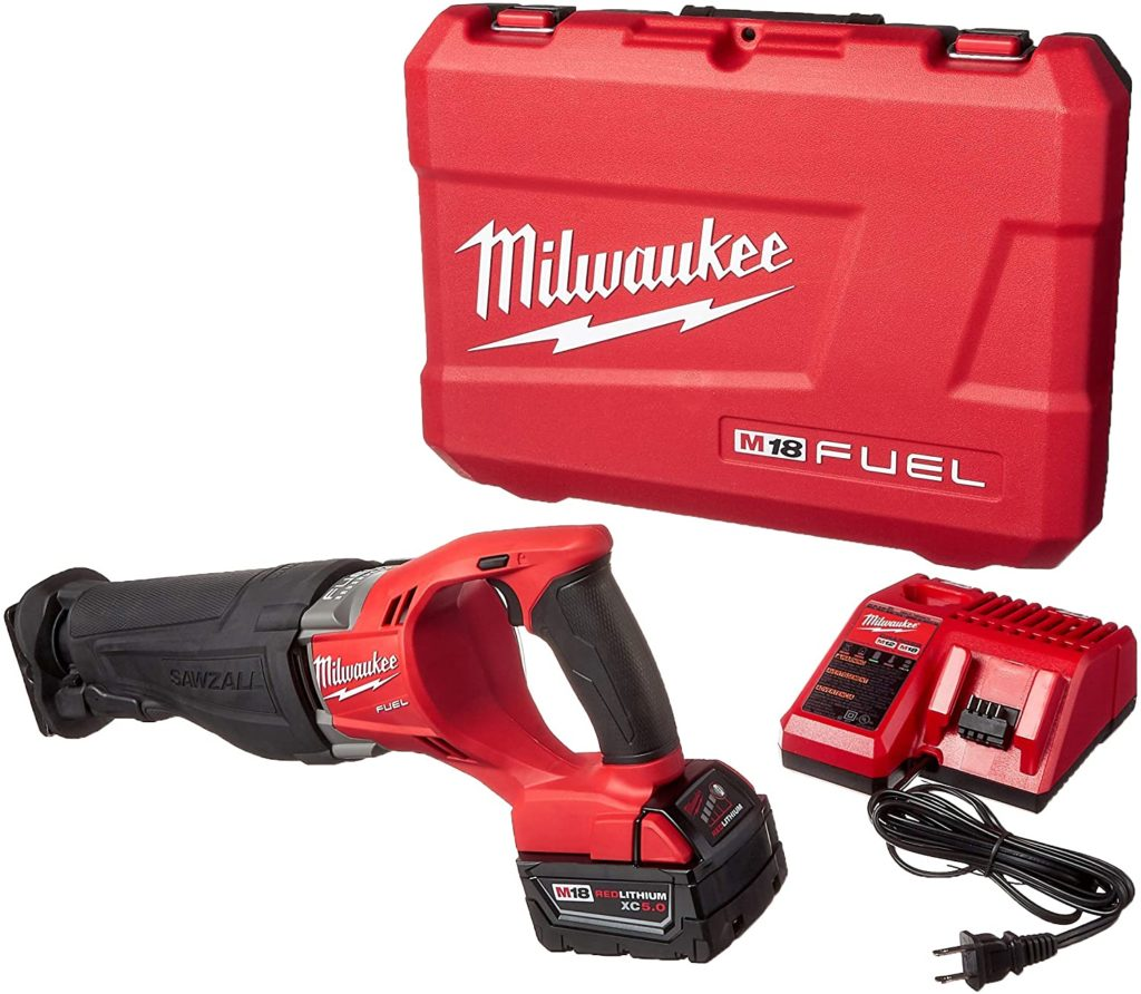 Image of Milwaukee M18 Fuel Sawzall Reciprocating Saw Kit