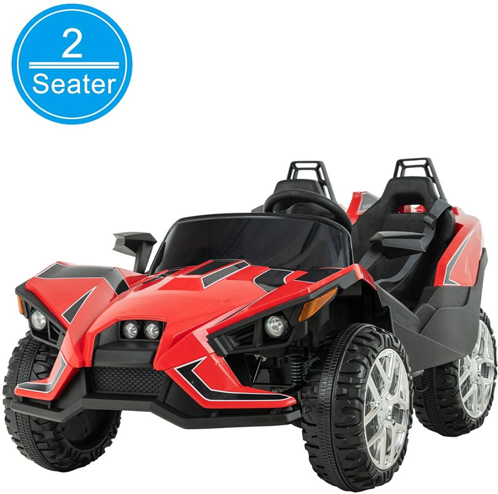 Picture of Uenjoy 2 Seats Kids Ride On Racer Cars with Parental Remote Control