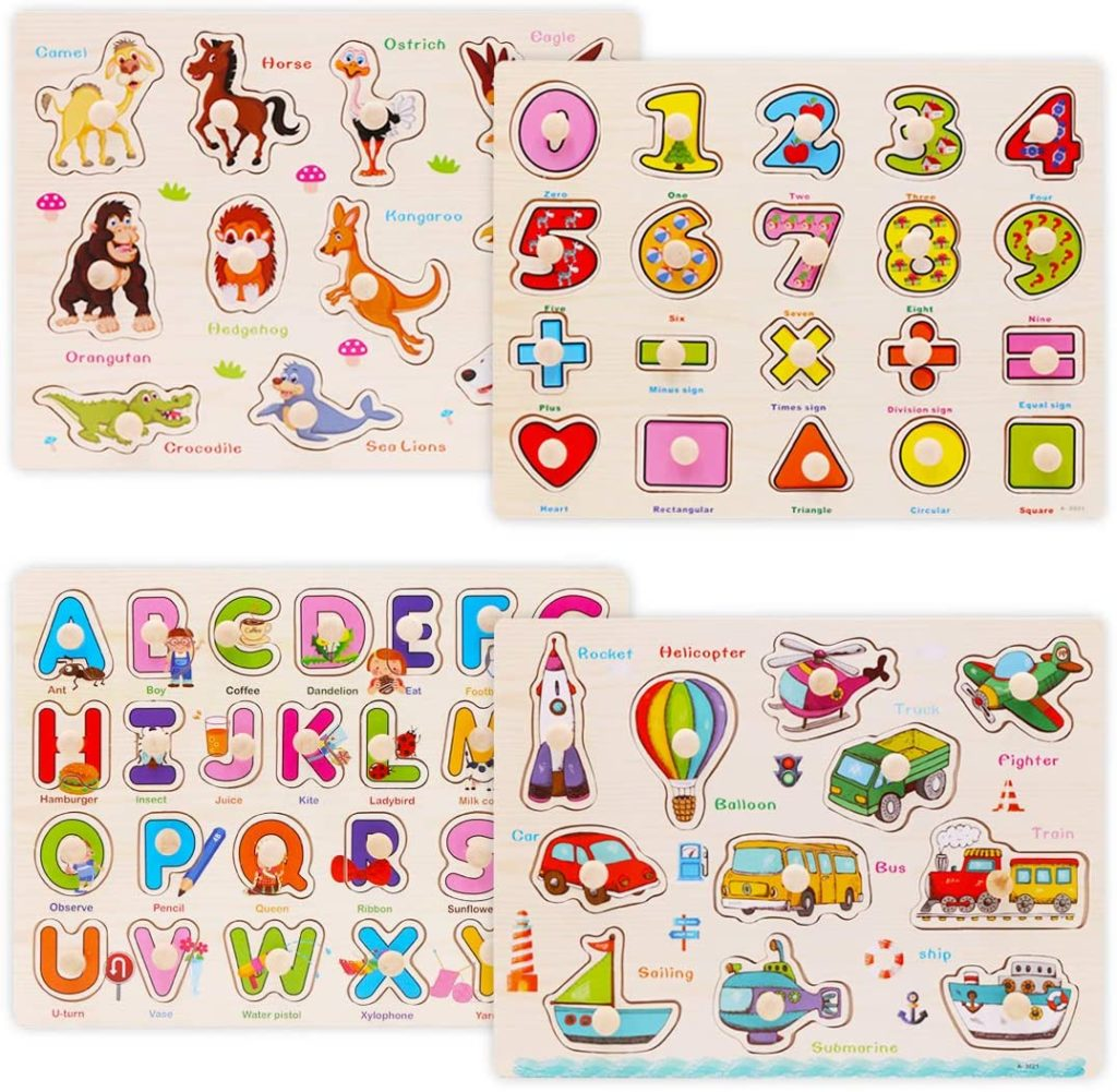 Picture of Wooden Peg Puzzles from Wood City
