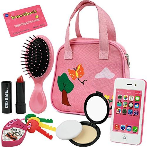 Image of Click N' Play 8pc Girls Pretend Play Purse