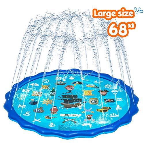 "Picture of Abida Splash Pad, 70"" Outside Sprinkler Play Mat Splash Pads for Toddler Girls and Boys"