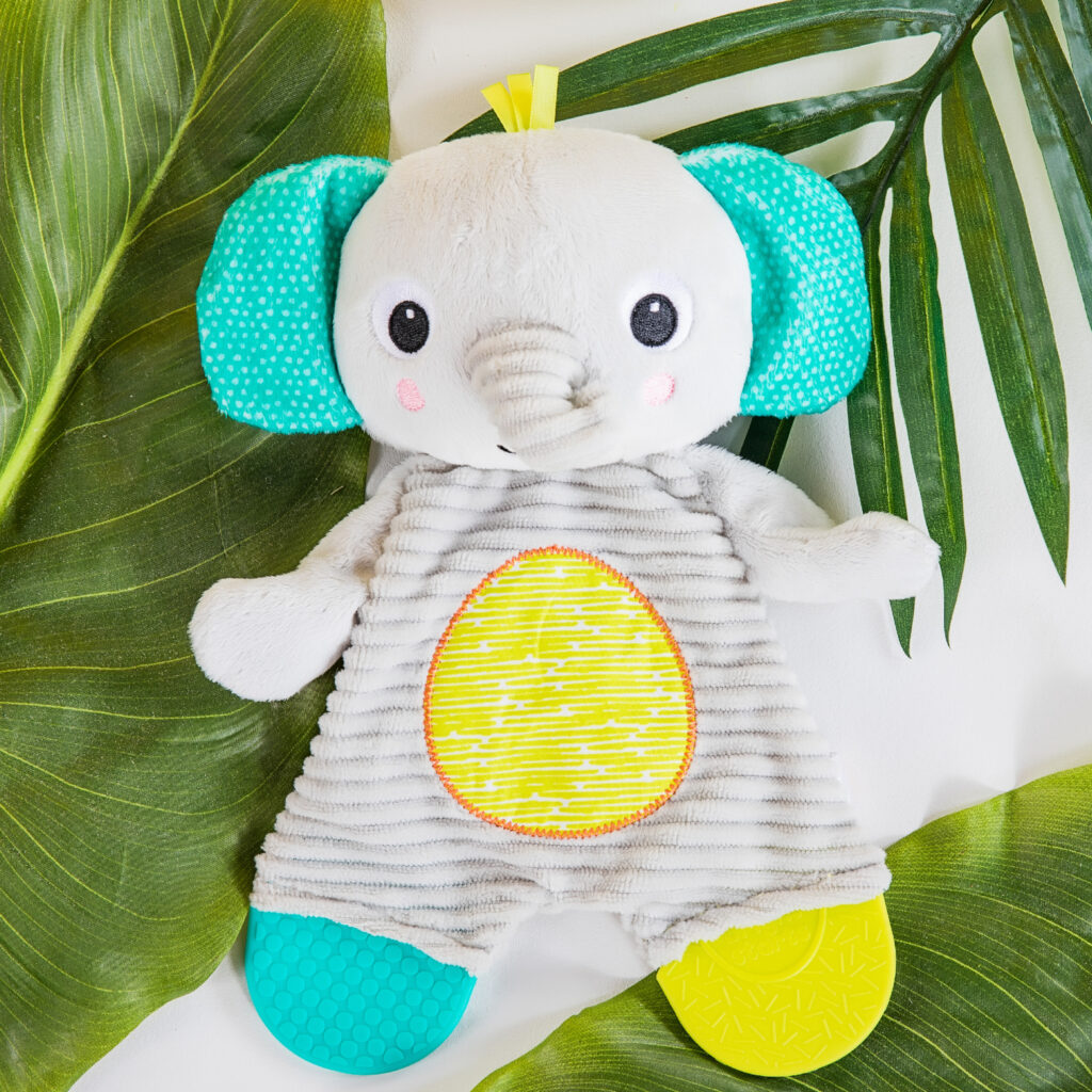 Photo of Bright Starts Snuggle & Teethe Plush Teether – Elephant