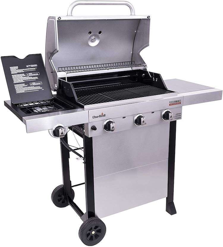 Photo of Char-Broil Performance Infrared Gas Grill under $300 3-Burner Cart Style with Stainless Steel
