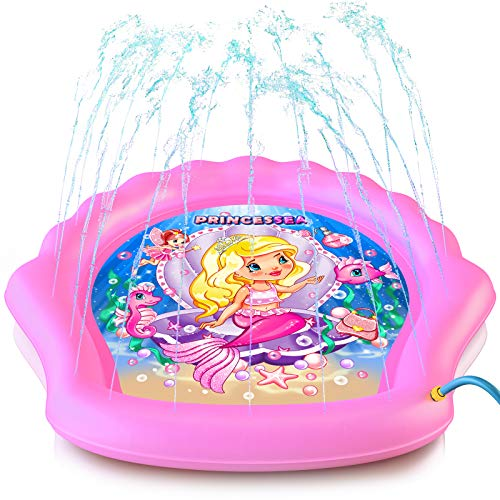 Image of Outdoor Mermaid Water Splash Pads for Toddlers