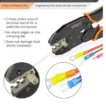 Image of Ratcheting Heat Shrink Connectors Crimper - Ratchet Terminal Crimper - Wire Crimp Tool