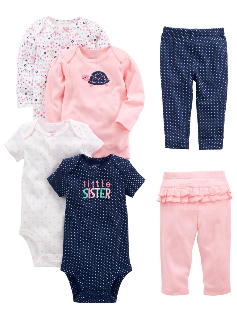Picture of Simple Joys by Carter's Baby Girls' 6-Piece Bodysuits