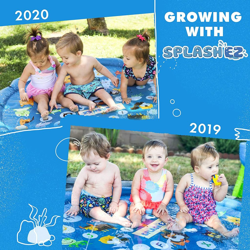 Image of SplashEZ 3-in-1 Sprinkler for Kids - Swimming Pool for Babies and Toddlers