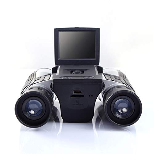 Image of Camonity Digital Camera with Binocular 12X Zoom Video Photo Recorder for Bird Watching, Football Game, Concert