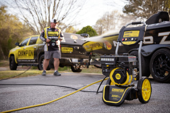 Image of Champion 3200-PSI 2.4-GPM Dolly-Style Gas Pressure Washer for Home