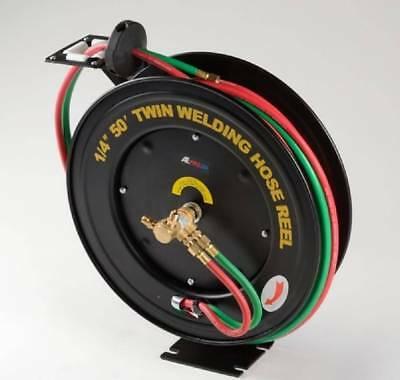 Image of Generic 50 Ft Oxygen Acetylene Dual welding retractable reel with a hose