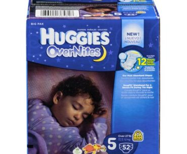 Image of Huggies OverNites Diapers Size 5