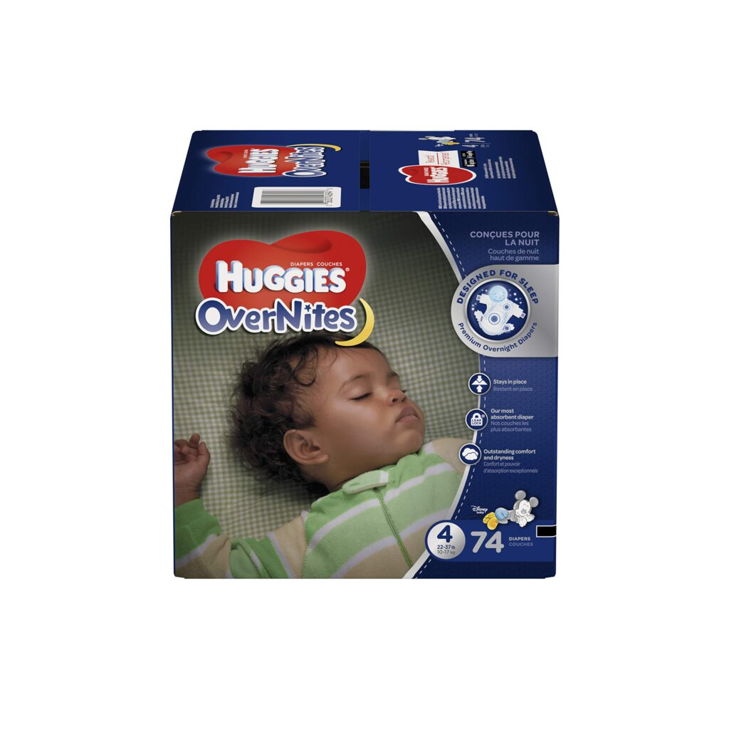 Photo of Huggies Overnites Diapers, Size 4