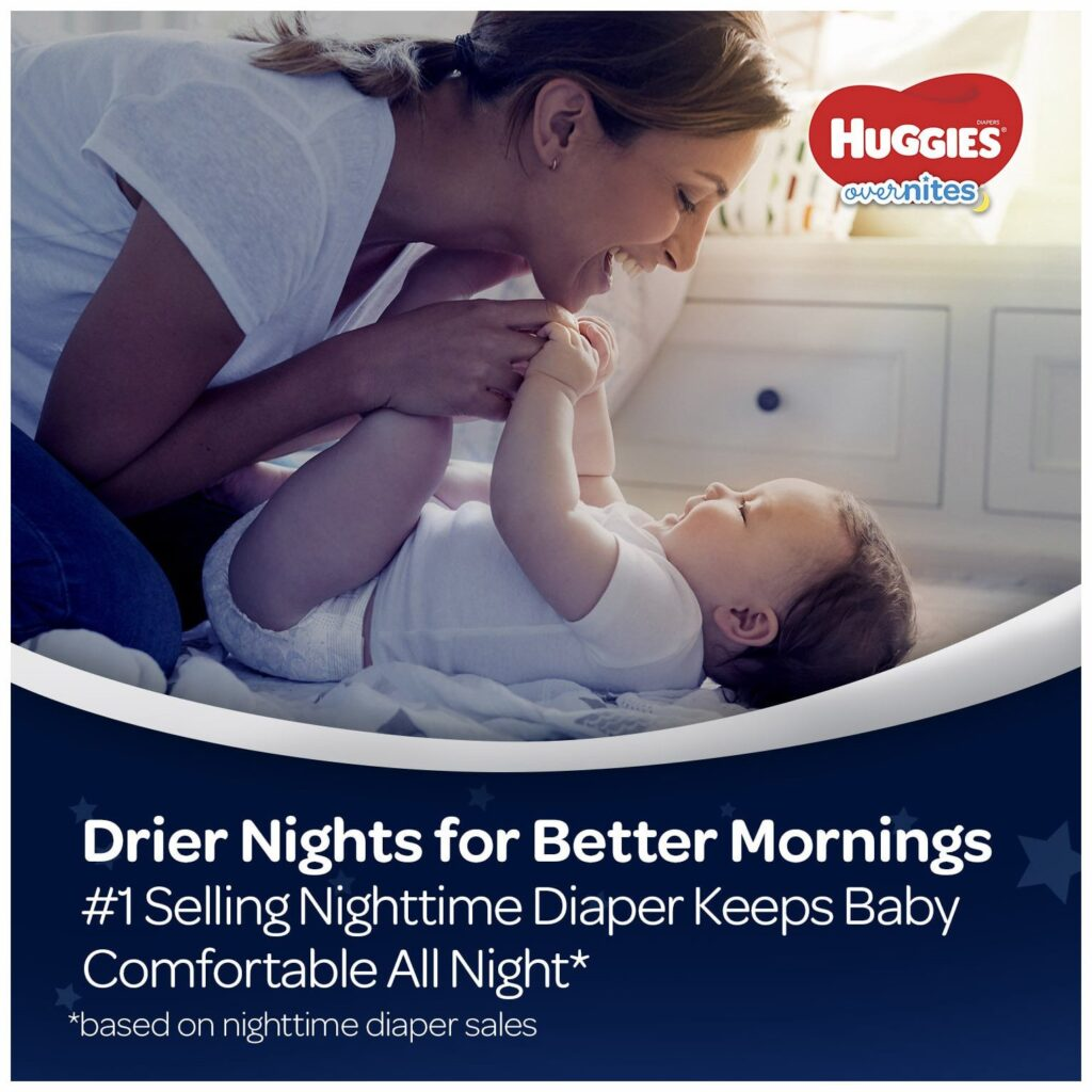 Picture of Huggies Overnites Nighttime Diapers Size 4