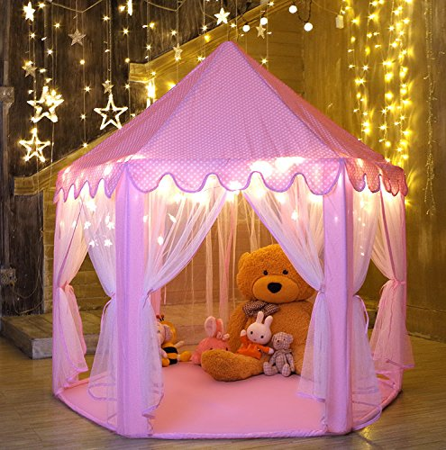 Image of Monobeach Princess Tent Present for 4 Year Old Girl
