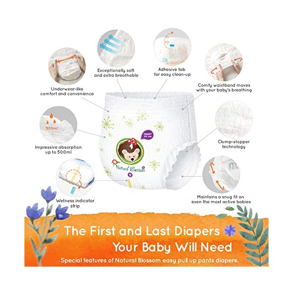 Photo of Natural Blossom Super Soft Hypoallergenic Ultra-Slim Disposable Diaper for Sensitive Skin