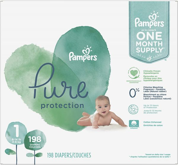 Picture of Pampers Pure Protection Disposable Baby Diapers, Hypoallergenic, and Unscented Protection