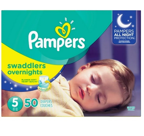 Picture of Pampers Swaddlers Overnights Diapers