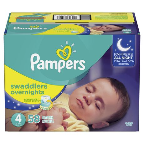 Image of Pampers Swaddlers Overnights Disposable Baby Diapers