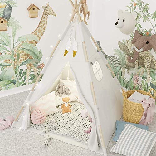 Photo of TazzToys Kids Teepee Tent for Kids with Fairy Lights